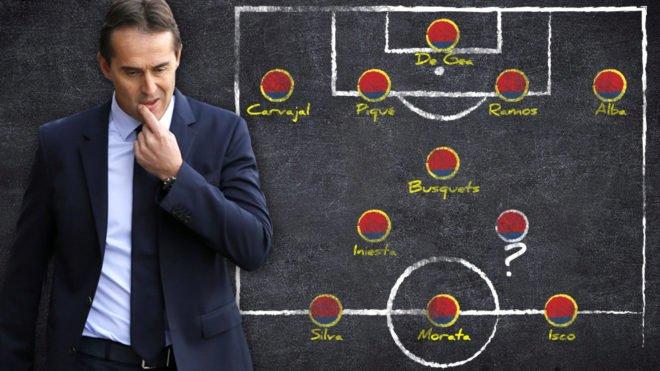 6fa5a2a04e3f2 O XI da Espanha para o Mundial'2018